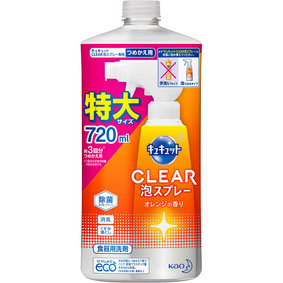 キュキュット CLEAR泡スプレー つめかえ用 720mL
