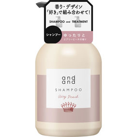 and and ゆったりと エアリーピーチの香り シャンプー ポンプ 480mL