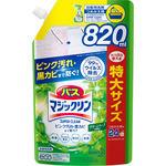 バスマジックリン 泡立ちスプレー SUPER CLEAN グリーンハーブの香り つめかえ用 スパウトパウチ 820mL
