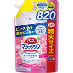 バスマジックリン 泡立ちスプレー SUPER CLEAN アロマローズの香り つめかえ用 スパウトパウチ 820mL