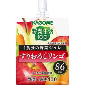 ※野菜生活100 1食分の野菜ジュレすりおろしリンゴ 180g