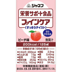 ジャネフ 栄養サポート食品 ファインケア すっきりテイスト ピーチ味 125mL