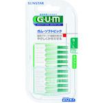 GUM ガム・ソフトピック ミント付き サイズS~L やや太いタイプ 20本入