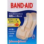「バンドエイド」 救急絆創膏 <4サイズ> 肌色 25枚