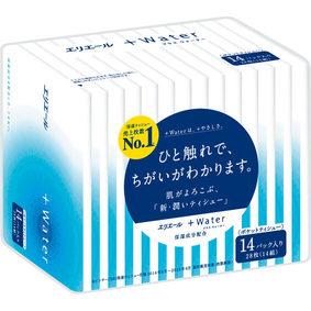 エリエール+Water(ポケット) 14組28枚×14パック