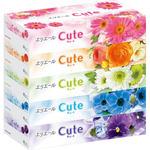 エリエール ティシューキュート ホワイト 320枚(160組)×5箱