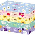 エリエール i:na(イーナ) ティシュー ホワイト 300枚(150組)×5箱