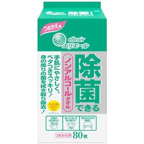 除菌できるノンアルコールタオル つめかえ用 80枚