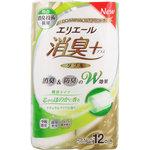 エリエール 消臭+トイレットティシュー ほのかに香るナチュラルクリアの香り(ダブル) 25m×12ロール