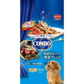 コンボ ドッグ 角切りビーフ・野菜ブレンド 460g(115g×4袋)