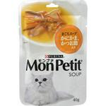 モンプチ スープ(パウチ) まぐろスープ かにかま、かつお節入り 40g