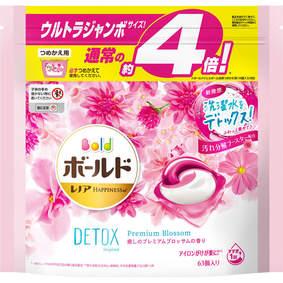 ボールド ジェルボール3D 癒しのプレミアムブロッサムの香り つめかえ用 ウルトラジャンボサイズ 1.15kg(63個)