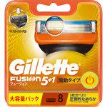 ジレット フュージョン5+1パワー 電動アシスト式首振5枚刃 替刃 8個