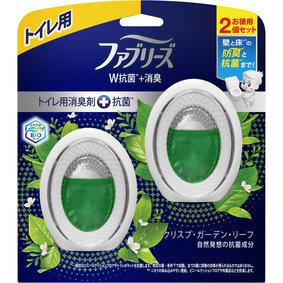 ファブリーズW消臭 トイレ用消臭剤+抗菌 クリスプ・ガーデン・リーフ 6mL×2個