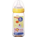 母乳実感哺乳びん プラスチック 240mL(アニマル柄) 1本