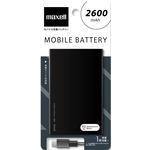 マクセル モバイル充電バッテリー 2600mAh ブラック MPC-C2600PBK
