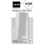 マクセル 大容量モバイル充電バッテリー 6700mAh ホワイト MPC-C6700PWH