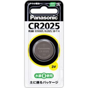 マイクロ電池(コイン形リチウム電池) CR2025P 1個