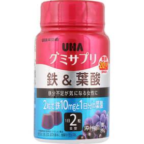 ※UHA グミサプリ 鉄&葉酸 ボトル 60粒
