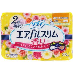 ソフィエアfitスリム Happyブーケ香り210羽なし 28枚