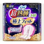 ソフィ超熟睡極上フィットスリム340 白、ピンク 12枚