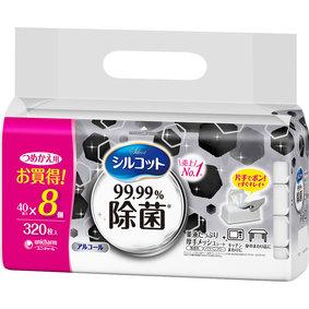 シルコット99.99%除菌ウェットティッシュ詰替 320枚(40枚×8個)