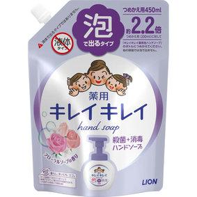 キレイキレイ 薬用泡ハンドソープ フローラルソープの香り つめかえ用大型サイズ 450mL