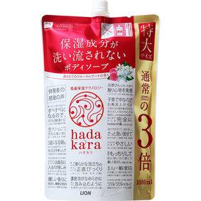 hadakara(ハダカラ) ボディソープ フローラルブーケの香り つめかえ用特大サイズ 1080mL
