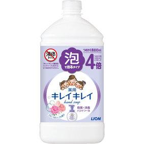 キレイキレイ 薬用泡ハンドソープ フローラルソープの香り つめかえ用特大サイズ 800mL