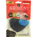 ドライ蒟蒻洗顔マッサージパフ(竹炭) 1個