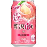 アサヒ贅沢搾り 桃 350mL