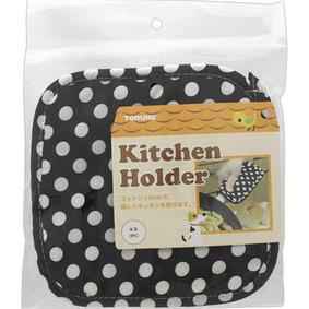 キッチンホルダー 水玉 BK 1個