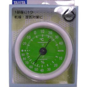 温湿度計 TT−515−GR GR グリーン 1個