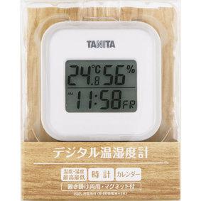 デジタル温湿度計 TT−558−GY GY グレー 1個