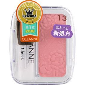 セザンヌ ナチュラル チークN 13 ローズ系ピンク 1個