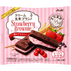 ※クリーム玄米ブラン 苺のブラウニー 70g(1枚×2袋)
