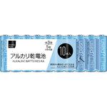 matsukiyo 単3アルカリ乾電池シュリンクパック LR6MK/10S 10本