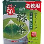 お徳用宇治抹茶入り緑茶 三角ティーバッグ 100g(50袋)