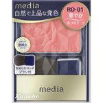 メディア ブライトアップチークN RD-01 レッド系 3.0g