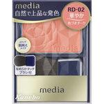 メディア ブライトアップチークN RD-02 レッド系 3.0g
