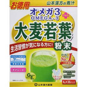 オメガ3+大麦若葉粉末 144g(4g×36パック)