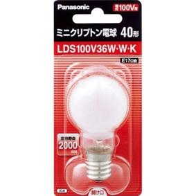 ミニクリプトン電球 E17口金 LDS100V36WWK ホワイト 1個