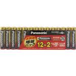パナソニック アルカリ 乾電池単4形 増量 12+2本