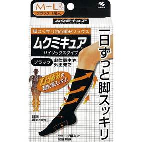 ムクミキュア ハイソックスタイプ M~Lサイズ ブラック 1足