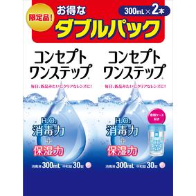 コンセプトワンステップ ダブルパック (消毒液300mL×1本、中和錠×30錠)×2パック