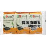 韓国直輸入 伝統味付けのり 8切8枚3袋