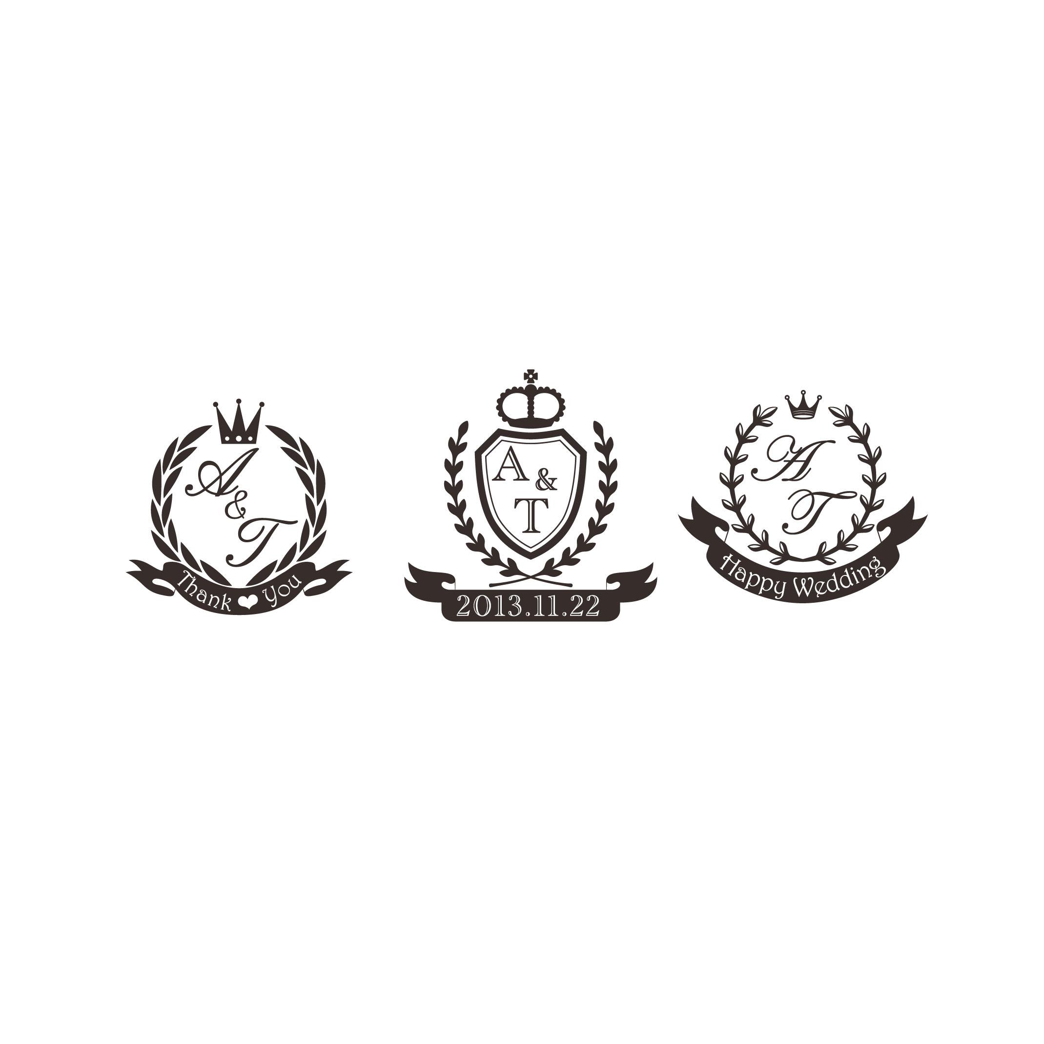 結婚式★イニシャルロゴ作成します!