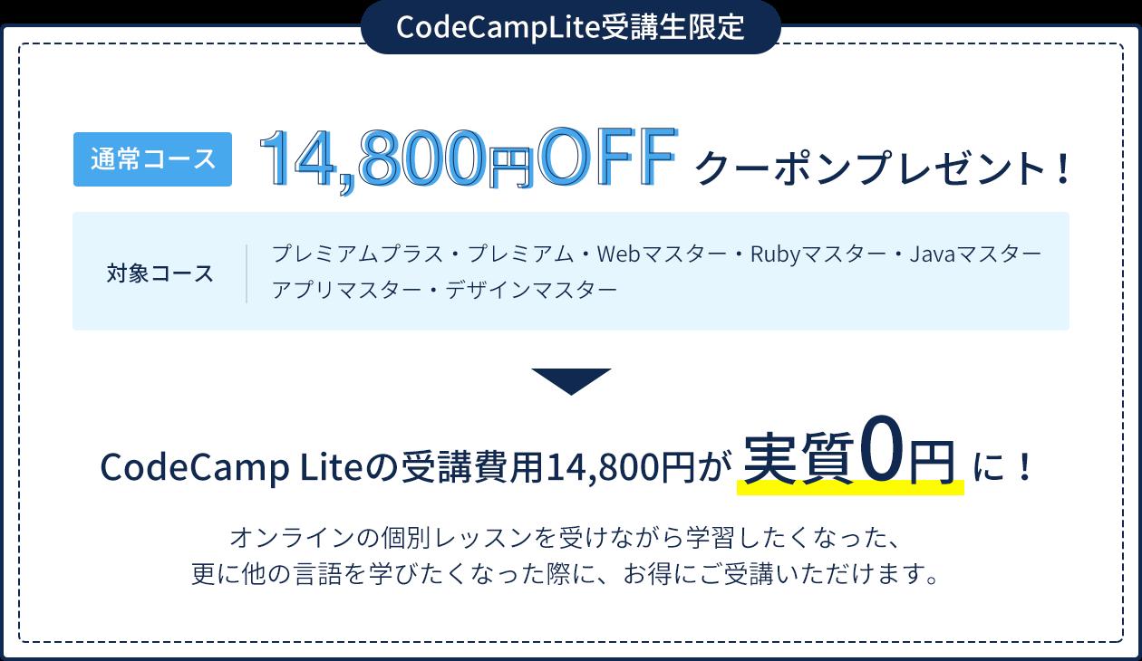 14,800円OFFクーポンプレゼント!