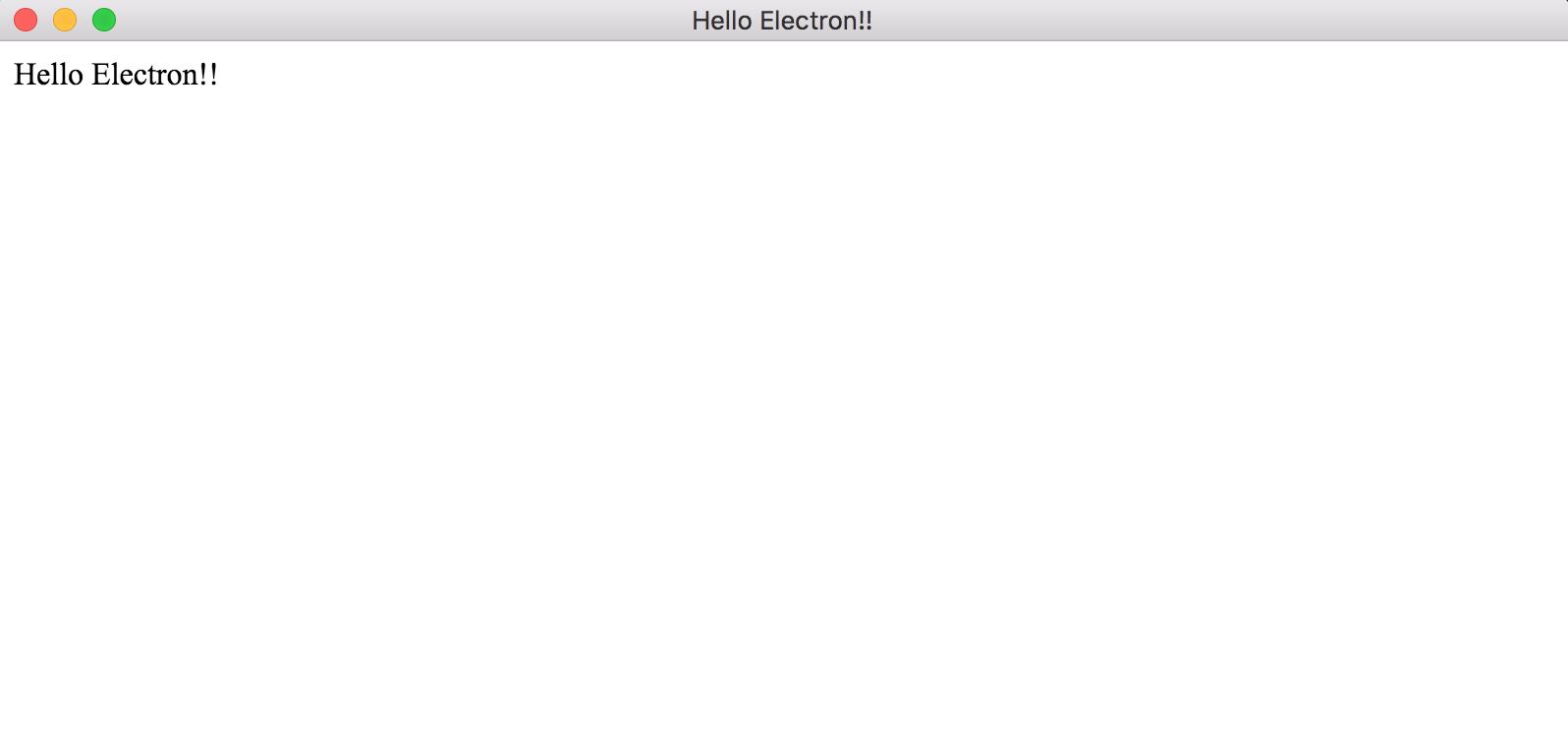 Hello Electron