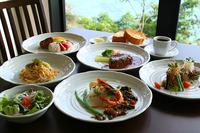 島の食材を使ったイタリアンディナーコースの一例です。